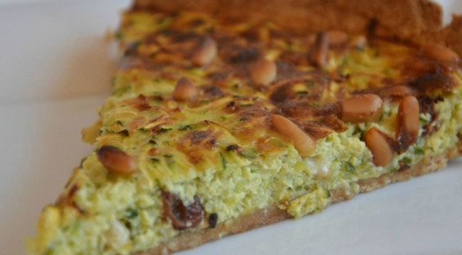 broccoli courgette quiche