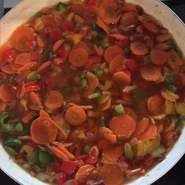 paprika wortel soep