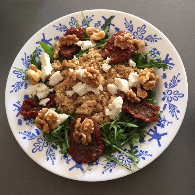 salade amarant geitenkaas