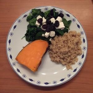 Zoete aardappel met quinoa