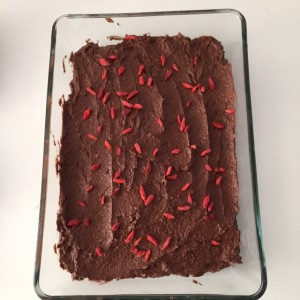 chocoladetaart zonder suiker
