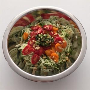courgette salade met tomaatjes