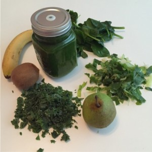 smoothie met 3 verschillende bladgroentes