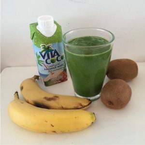 kiwi banaan kokos smoothie
