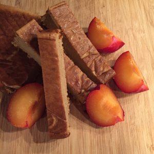 Nectarine cake met kwark